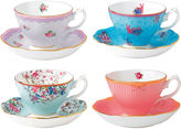 Royal Albert Candy 4-pc. Cup and Saucer Set