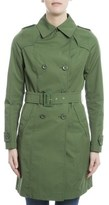 Herno Women's Green Cotton Trench Coat.