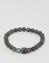 Simon Carter Beaded Bracelet With Swarovski Crystal Skull