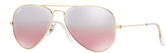 Ray-Ban Mirrored Flash Aviator Sunglasses