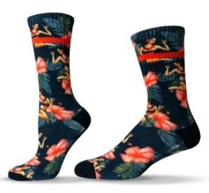 Unisox Unisex Floral Hawaiian Hula Girl Crew Socks