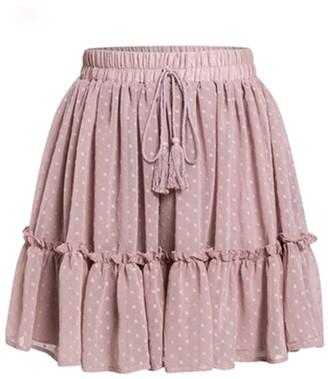 Goodnight Macaroon 'Kollin' Dotted Mini Skirt (2 Colors)