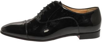 Christian Louboutin Black Patent Leather Cap Toe Oxfords Size 37.5