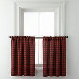 Asstd National Brand Jackson Plaid Rod-Pocket Window Tiers