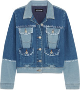 House of Holland Patchwork stretch-denim jacket