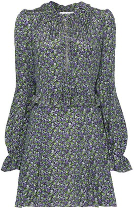 Les Rêveries Floral Print Mini Dress