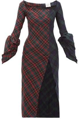 A.W.A.K.E. Mode Thistle Whistle Square-neck Tartan Dress - Womens - Multi