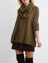 Charlotte Russe Cowl Neck Oversized Sweater