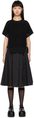 Sacai Black Knit Panel Dress