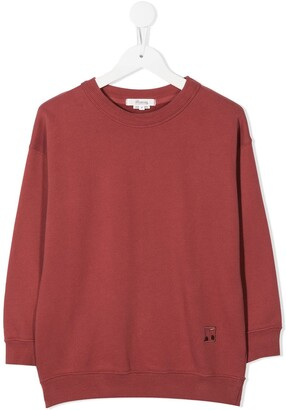 Bonpoint Embroidered-Logo Cotton Sweatshirt