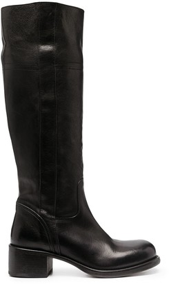 Moma Knee-High Leather Boots