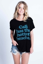 Local Celebrity Cali Beaches Schiffer Tee in Black