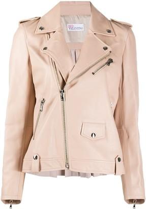 RED Valentino RED(V) zipped biker jacket