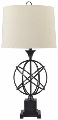 Signature Design by Ashley Camren Metal Table Lamp - Sculptural Base - Black