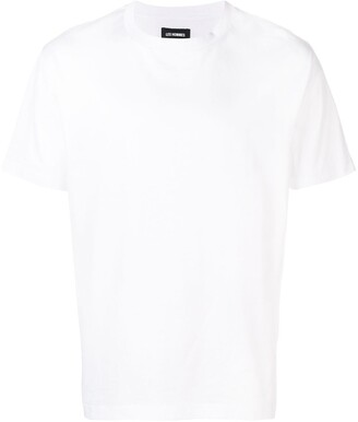 Les Hommes ripped logo print T-shirt