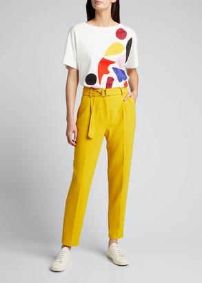 Akris Punto Abstract Print Cotton T-Shirt