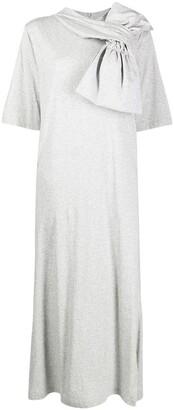 MM6 MAISON MARGIELA Bow Detail Jersey Dress