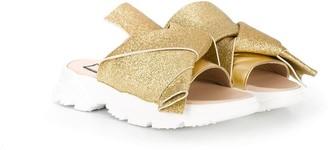 No21 Kids Glitter-Effect Sandals
