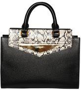 Vionnet Elaphe & Grained Leather Top Handle Bag