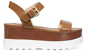 MICHAEL Michael Kors Women's Marlon Leather Ankle-Strap Flatform Sandals
