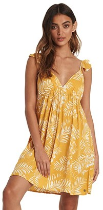 Roxy On A Thought Dress (Mineral Yellow Lirely) Women's Dress