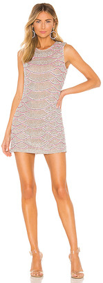 X by NBD Monty Embellished Python Mini Dress