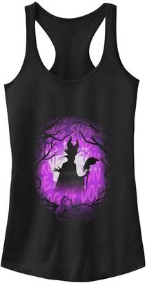 Disney Juniors' Disney's Sleeping Beauty Maleficent Purple Hue Silhouette Tank Top