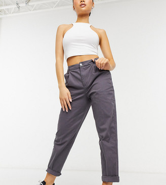 ASOS DESIGN Petite chino pants in charcoal