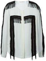Chloé fringed shirt - women - Silk/Viscose - 40