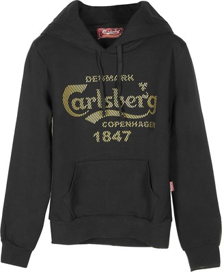 Carlsberg Signature Black Cotton Women's Hoodie