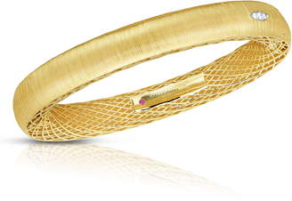 Roberto Coin Golden Gate Pave Diamond Bangle
