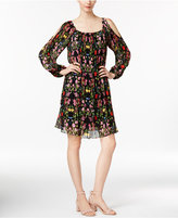 INC International Concepts Floral-Print Cold-Shoulder Dress, Only at Macy's