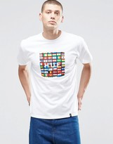 Huf T-shirt With Flag Box Logo