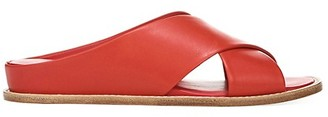Vince Fairley Criss-Cross Leather Backless Sandals