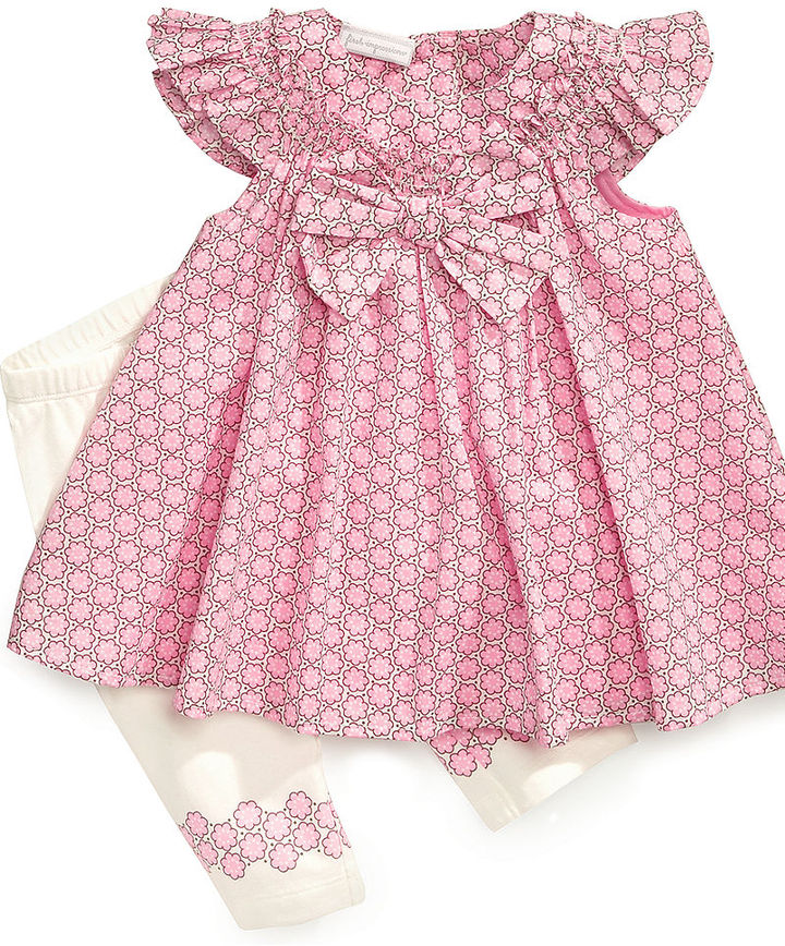 First Impressions Baby Set, Baby Girls Bow Tunic and Leggings