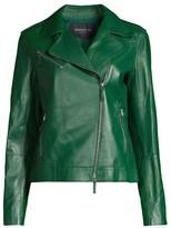 Lafayette 148 New York Bernice Moto Leather Jacket