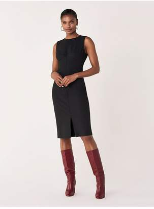 Diane von Furstenberg Elio Cotton-Blend Knee-Length Dress
