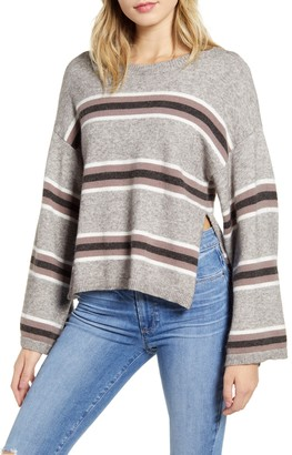 Cupcakes And Cashmere Amour Stripe Bell Sleeve Sweater