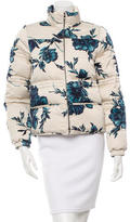 Tory Burch Floral Print Puffer Jacket