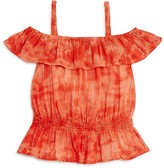 Splendid Girls' Tie Dye Off the Shoulder Top