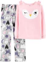 Pink Owl Ears Pajama Set - Toddler & Girls