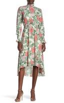 Nanette Lepore Nanette Long Sleeve High/Low Midi Dress