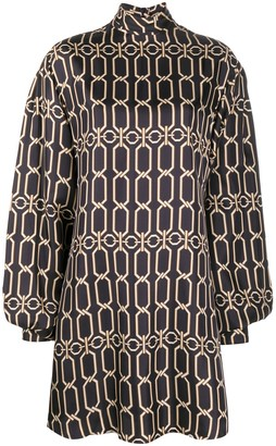 Victoria Beckham Graphic Chain Print Mini Dress