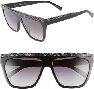 Rebecca Minkoff Jane2 58mm Gradient Square Sunglasses