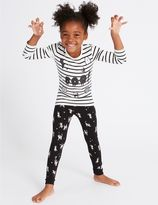 Marks and Spencer Long Sleeve Cotton Pyjamas with Stretch (9 Months - 8 Years)