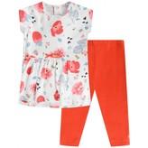 Catimini CatiminiWhite Floral Print Cotton Dress