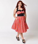 Plus Size Polka Dot Dress - ShopStyle