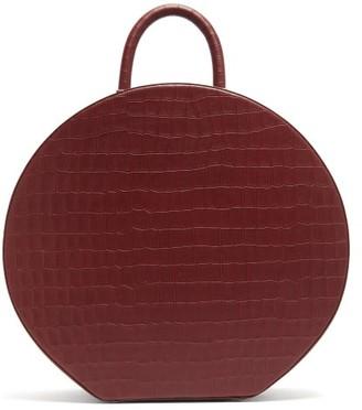 Sparrows Weave - Large Crocodile-effect Leather Handbag - Womens - Burgundy