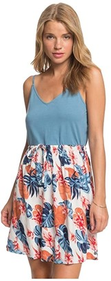 Roxy Moon Mouth Strappy Dress (Snow White Standard) Women's Clothing