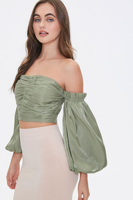 Forever 21 Off-the-Shoulder Balloon Sleeve Top
